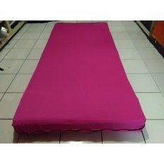 Beli Rayazi Sprei Resleting Kasur Busa Single Size 90X200Cm Tinggi 15 20Cm Pink Rayazi Dengan Harga Terjangkau