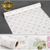 Jual Rdws 044 Wallpaper Sticker Premium Quality Pastel Mawar Elegan Termurah