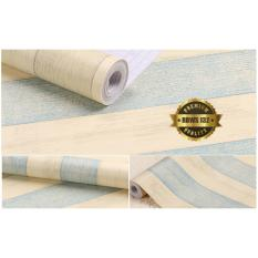 Jual Rdws 132 Wallpaper Sticker Premium Quality Motif Garis Navy Krem Antik