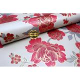 Rdws 224 Wallpaper Sticker Premium Quality Motif Mawar Merah Emas Wallpaper Sticker Murah Di Indonesia