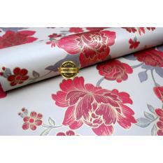 Promo Rdws 224 Wallpaper Sticker Premium Quality Motif Mawar Merah Emas Akhir Tahun