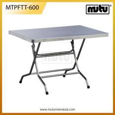 Meja Lipat Kafe Segi Empat 60 Cm Stainless Steel - MTPFTT-600