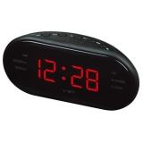 Dapatkan Segera Redcolourful Portable Led Alarm Clock Radio Digital Am Fm Radio Merah Dengan Eu Plug Intl