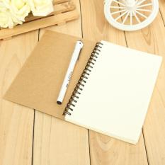 Reeves Retro Spiral Terikat Gulungan Buku Gambar dan Buku Catatan Kosong Kraft Sketsa Kertas Kraft Sampul Kertas Putih Kertas Di Dalam Halaman