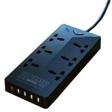 Toko Remax Alien Series Ru S4 5 Ports Usb Hub And 6 Universal Plug 4 2A Uk Plug Black Terdekat