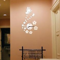 Harga Removable Diy Acrylic 3D Mirror Wall Sticker Decorative Clock Intl Tiongkok