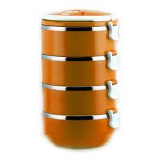 Jual Retail Station Eco Lunch Box Rantang 4 Susun Glossy Stainless Steel Orange Ori