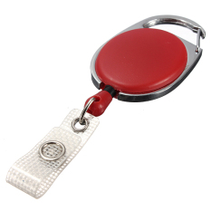 Harga Retractable Carabiner Recoil Key Ring Pull Chain Id Card Badge Holder Dengan Klip Intl Baru