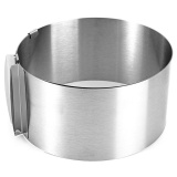 Jual Retractable Stainless Steel Circle Mousse Ring Baking Tool Set Cake Mould Cetakan Intl Ori