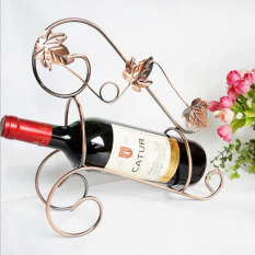 Retro Gaya Eropa Rak Anggur Besi Plating Elegan Pemegang Anggur Rumah Dekorasi Dapur Bar Pub Dekorasi 27 × 11 × 29 Cm-Intl