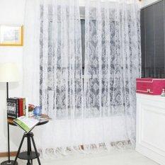 Jual Retro Berbondong Bondong Bunga Kain Pual Tirai Jendela Pintu Panel Tipis Kain Tule Tirai Putih 100 200 Cm Intl