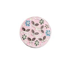 Retro Bunga Bulat Lipat Handbag Purse Hooks Meja Kait Gantungan Pemegang (Pink)-Intl