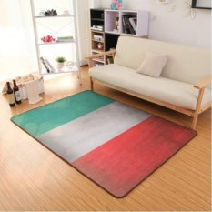 Retro Selamat Datang Lantai Tikar Mudah Dicuci Kamar Mandi Dapur Karpet Anti-Slip Rugs House Kipas Pelapis untuk Ruang Tamu 50X80 CM-Intl