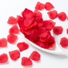RHS Online 1000 Pcs Merah Sutra Buatan Kelopak Mawar Pernikahan Partai Bunga Nikmat Dekorasi-Internasional