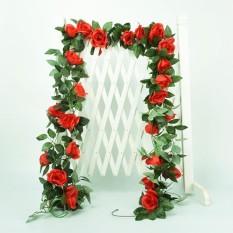 RHS Online 2.4 M Buatan Mawar Bunga Dedaunan Merambat Ivy Daun Tanaman Hiasan Dekorasi Pernikahan-Internasional