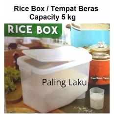 Rice Box/ Tempat Beras/kotak Beras 5 Kg By Paling Laku.