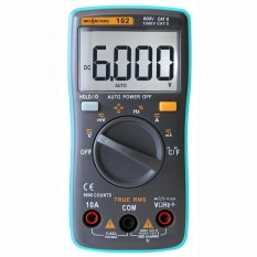RICHMETERS RM102 True RMS Multifunctional LCD Digital Multimeter DMM DC AC Voltage Current Resistance Diode Capacitance Temperature Tester Measurement Automatic Polarity Identification Ammeter Voltmeter Ohm - intl