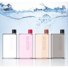 Rimas Memobottle A6 Letter Reusable Water Bottles 350ml / Botol Minum - Transparent / Transparan Tempat Botol Minum Unik Awet Tahan Lama Anti Pecah Tidak Memkan Tempat Berkualitas