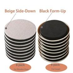Ris 16 Pack Dapat Digunakan Kembali Penggerak Furnitur untuk Karpet dan Lantai Kayu, 8 Pack-3.5. Felt Slider Plus 8 Bungkus-Plastik Mebel Penggerak Dalam Tabung Yang Dapat Digunakan Kembali Ezhouse Premium Mebel Slider Yang Bergerak-Internasional