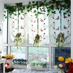 Jual Beli Online Romantis Butterfly Bordir Lift Dapur Tirai Voile Door Window Curtain Home Decortion Gorden Untuk Ruang Tamu Tulle Tirai Tirai
