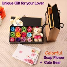 Diskon Besarhadiah Romantis Set 12 Buah Mawar Bunga Sabun Dengan Beruang Lucu Kado Ulang Tahun Spesial Kado Ulang Tahun Bunga Hari Valentine Mawar Merah International