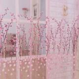 Harga Romantis Kain Paul Kain Tule Bunga Panel Pintu Kelambu Jendela Tirai Balkon Berwarna Merah Muda Origin