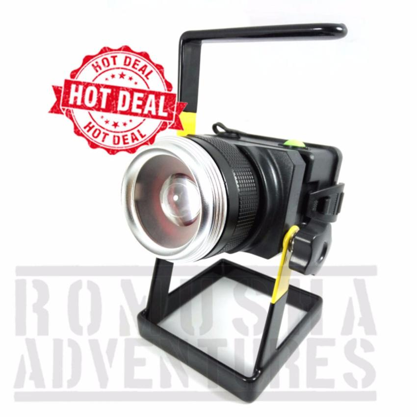 Beli Romusha Lampu Sorot 10W Led T6 Floodlight Outdoor Model Zoom Putar Kamera Slr Secara Angsuran
