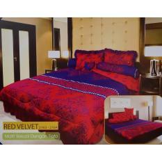 Beli Barang Ronaco Lady Rose Sprei King Size 3D Red Velvet 180X200 Cm Online