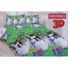 Toko Ronaco Sprei Bonita Funny Penguin Hijau Lengkap