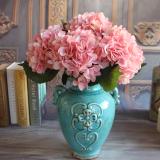 Rose Floral Buatan Sutra Peony Bunga Hydrangea Untuk Dekorasi Rumah Pesta Diy Terbaru