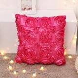 Beli Rose Bunga Polyester Murni Sarung Bantal Sofa Sarung Bantal Kursi Dekorasi Rumah Internasional Yang Bagus