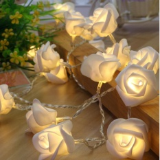 Rose Light LED String / Lampu LED Bunga Mawar Hias Warna Warm White for Decor