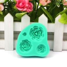 Mawar Silikon Cetakan Kue Dekorasi Alat untuk Fondan Kue Cupcake - Internasional