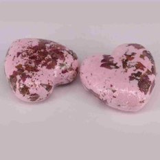 Ulasan Tentang Rose Whitening Moisture 40G Garam Mandi Bom Essential Oil Body Scrub Bentuk Hati Biru