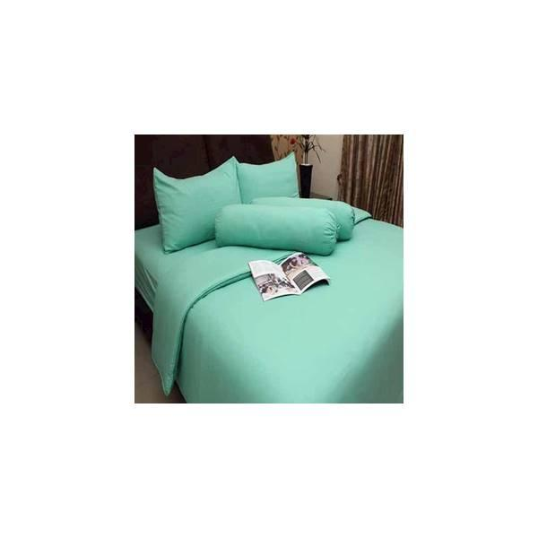 Rosewell Bed Cover Microtex Polos Single Hijau  (Bed Cover Only)