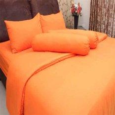 Rosewell Seprei Microtex Polos Orange Indonesia