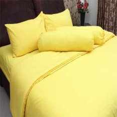 Toko Rosewell Seprei Bedcover Microtex Polos Kuning Online Banten