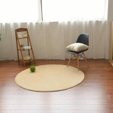 Round Coral Beludru Karpet dan Tikar Anti-Slip Lantai Tikar Tahan Lama Karpet Mat untuk Ruang Tamu Penyerap Sofa Area Rugs Kursi Komputer Meja Rugs 100 CM-Intl