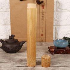 Jual Round Portable Handmade Natural Bambu Teh Jar Wadah Kotak 2 5X23 Cm Intl Oem Original