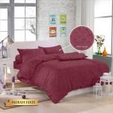 Harga Royals Bed Cover Set Sprei Polos Jacquard 180X200 20 Aneka Warna Termahal