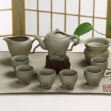 Ruyiyu China Keramik Porselen Cina Kung Fu Tea Set Kasar Pottery Tea Pot Mangkuk Teh 10 Pack Spring Breeze Intl Murah