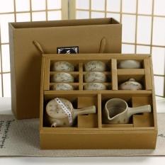 Spesifikasi Ruyiyu China Keramik Porselen Cina Kung Fu Tea Set Dengan Gift Box Kasar Pottery Tea Pot Mangkuk Teh 10 Pack Lotus Intl Dan Harganya