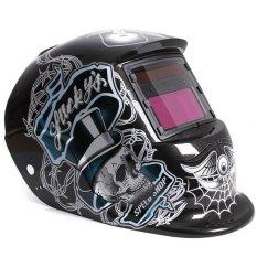 S & F Solar Auto Penggelapan Pengelasan Helm ARC TIG MIG Mengelas untuk Tukang Las Grinding Masker (hitam)