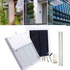 Keselamatan dan Keamanan Outdoor Pencahayaan Kerja untuk Taman Rumah Path LED Lampu Jalan Solar Powered Otomatis Sensor Kontrol Cahaya Lampu -Intl