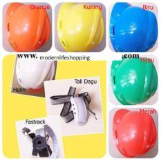 Safety Helm Proyek Pengaman Kepala + Inner Fast Track - V Guard Safety + Tali Dagu Kuning
