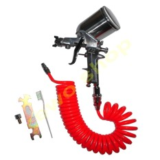 Jual Sagola Spray Gun F75G Spet Cat Semprot Plus Selang Recoil Hose 6 Meter Import