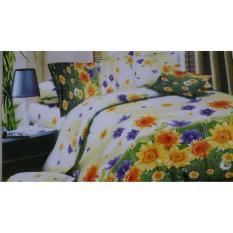 Harga Sakura Bed Cover Set 6 In 1 Sun Flowers Putih Baru Murah
