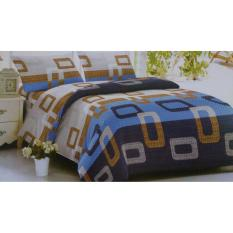 Spesifikasi Sakura Cotton Bed Cover Set Kotak Biru Lengkap