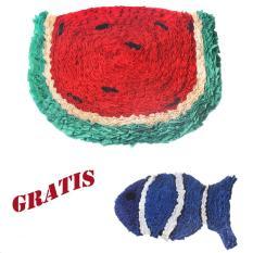 Salvo keset kaki / keset karakter / keset kamar mandi / keset handuk/ keset kaki murah Semangka GRATIS keset ikan