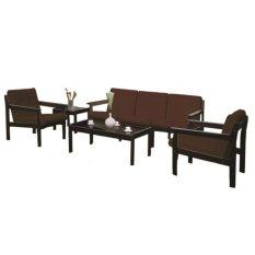 Sams Furniture Sofa KTM 007 - Hitam-Cokelat